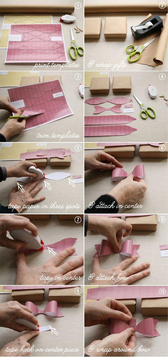 Paper Bows Tutorial   Download & Print