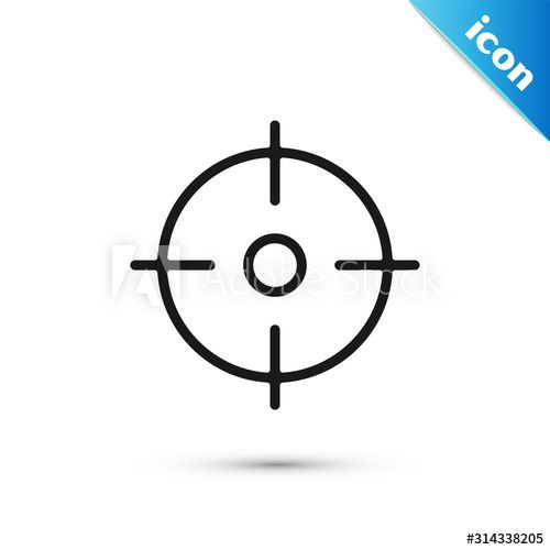 Black Target Sport Icon Isolated On White Background Clean Target With Numbers For Shooting Range Or Shooting Vector In 2020 Shooting Range Target Sports Sport Icon
