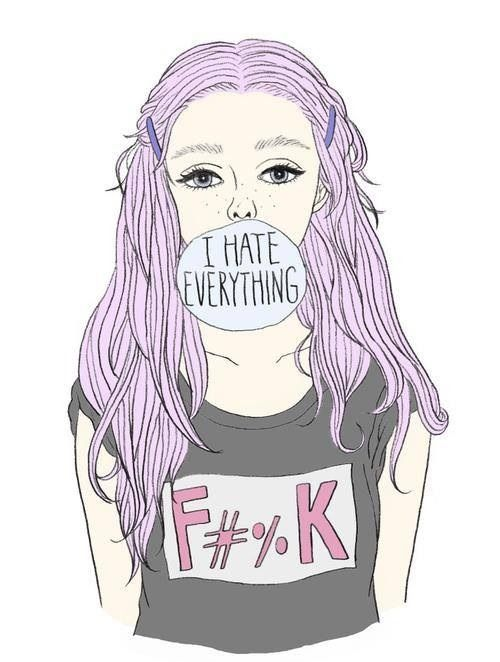 Girls Google Tumblr Drawings Pastel Purple Choose Me Punk Girl