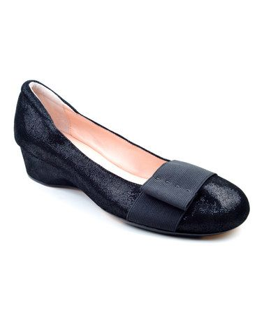 Loving this Black Mary Suede Wedge on #zulily! #zulilyfinds