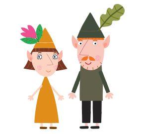 el señor y la señora duende para imprimir: