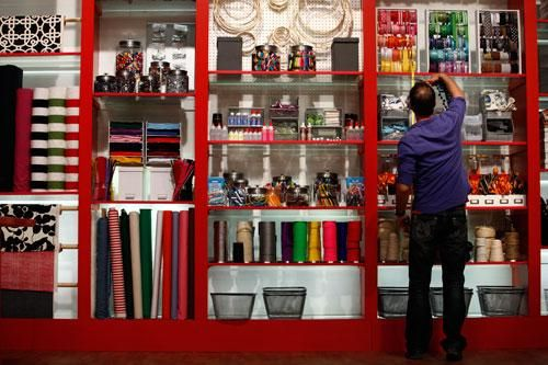 Craft Wars set -- look at that wall of colorful crafting goodies!