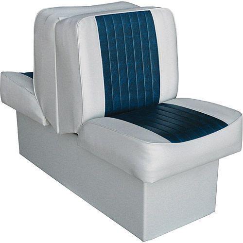 10 Boat Back To Back Lounge Seat Marine Base Foldable Vinyl Plastic Grey Navy 10boatback Lounge Seating Boat Seats Lounge