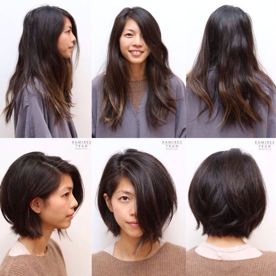 long hair to bob cut, haircut before and after, hair