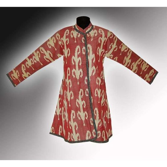UZBEK NATIONAL SILK-COTTON IKAT ADRAS - WOMAN'S JACKET