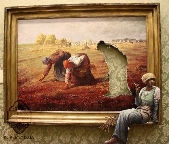 Art by Banksy.
