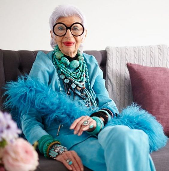 """IRIS APFEL - """"More is More and Less is a Bore"""" — Saima Says"""