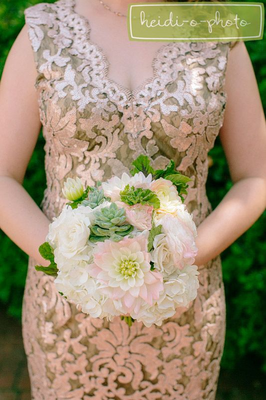 white & pink & green & succulent pastel floral wedding bouquet - photography by www.heidiophoto.com