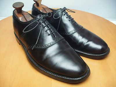 Florsheim Imperial Shell Cordovan Saddle Shoe 9.5 D Black Leather Oxford Horween $45