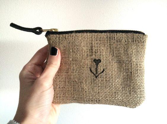 Portemonnaies - Kleine Geldbörse MIA / jute - ein Designerstück von elbspatz bei DaWanda