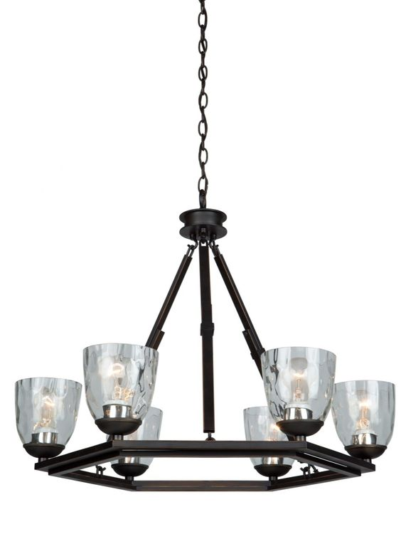 Kent 6 Light Candle-Style Chandelier