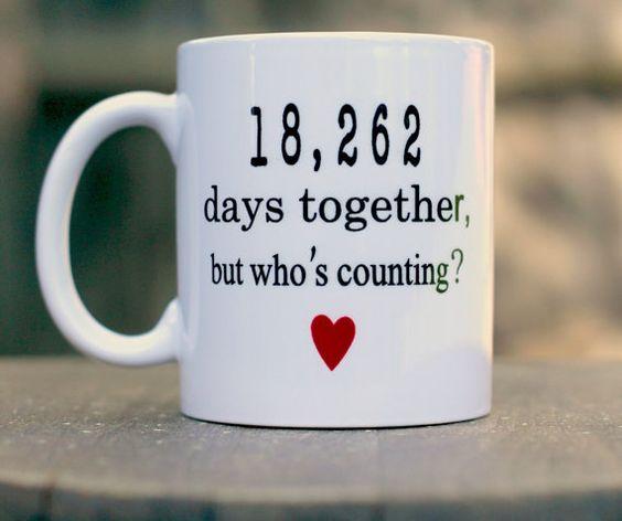 50th Wedding Anniversary mug Anniversary gift by ShopFourArrows