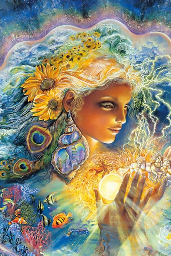 """""""You know what love is? It is all kindness, generosity."""" — Rumi (Art: """"Mother Earth"""" by Josephine Wall)."""