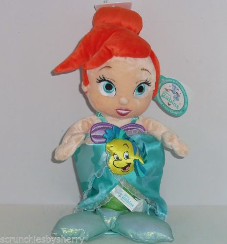 Disney Baby Ariel Mermaid Blanket Plush Theme Parks NWTS Babies Security