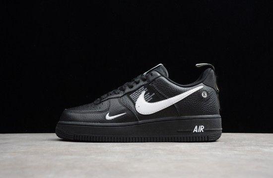 Nike Air Force 1 07 Lv8 Utility Overbranding Black White Aj7747 001