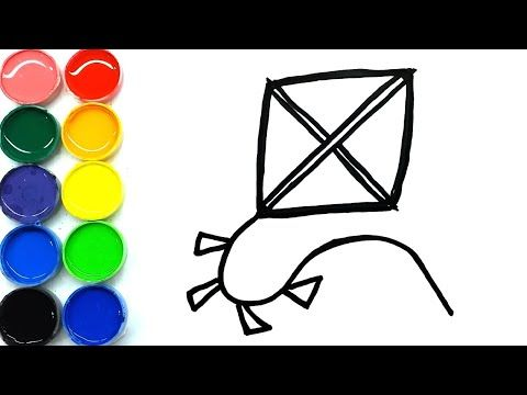Cara Menggambar Layang Layang Mudah Untuk Anak Anak Di 2020 Cara