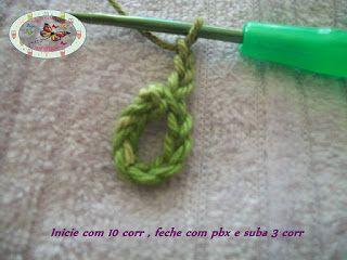 Artesanato com amor...by Lu Guimarães: Flolha em crochê PAP