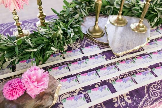 Escort cards - Luxe Events