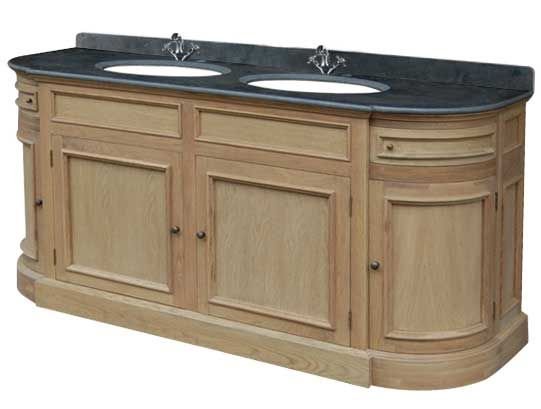 Meuble lavabo double vasque , plateau pierre bleue JVDPB