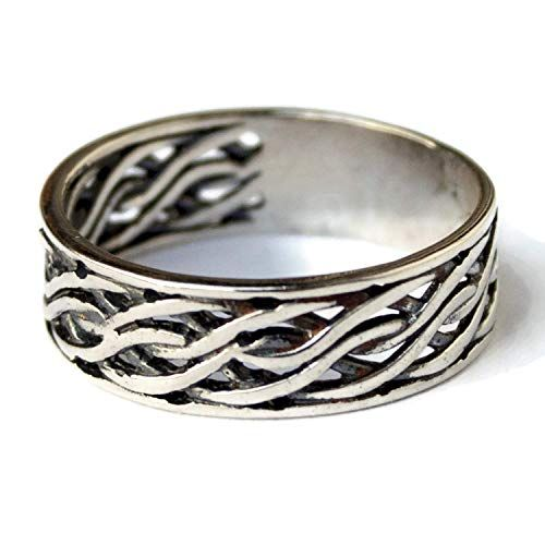 Celtic Knot Ring Norse Viking Norse Jewelry Braided Band 925 STERLING SILVER