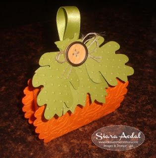 Siara Sweet Sensations: Stampin' Up! Pumpkin Scallop Box Treat Holder