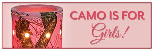 Camo is for Girls! Brand new for Fall- Mossy Oak Licensed Pink Camo and Traditional Camo warmers from Scentsy!