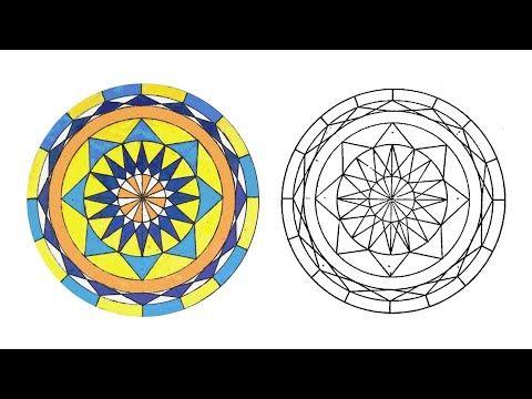 زخرفة سهلة زخرفة الماندالا Mandala Drawing Easy Youtube Decor Decorative Plates Home Decor