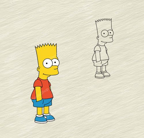 Bart Simpsons The Simpson 4 Svg Dxf Eps Png Cricut Vector Bart Simpson Simpsons Gift Simpson