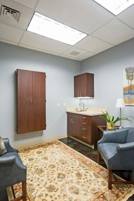 Comfort room, exam table hidden | Hospital Design | Building a Vet ...