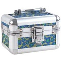 Mini Aluminum Vintage Luggage Case Design Shining Sequin Adorned Jewelry Casket Storage Box - Panther Pattern
