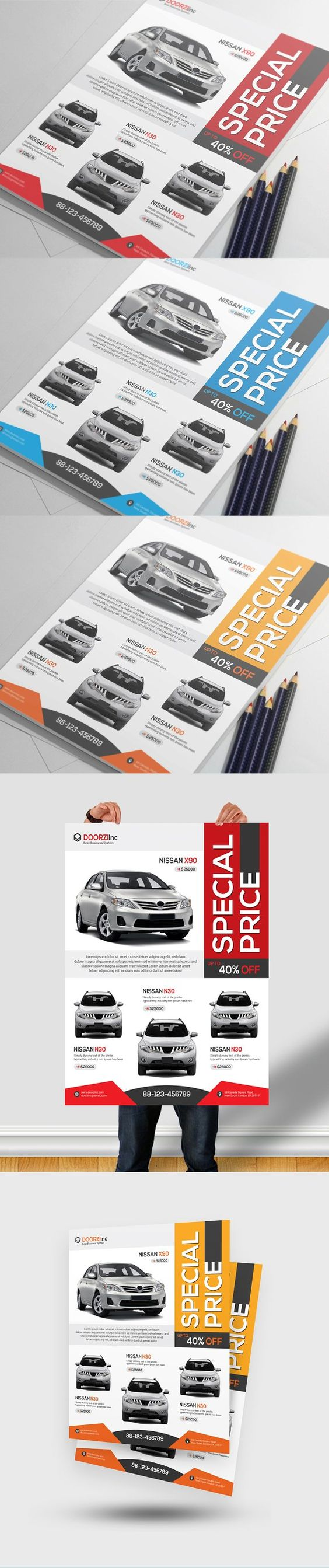 car flyer cars flyers and car s car flyer by orcshape on creativemarket