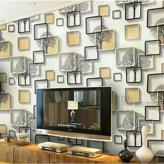 Wallpaper Dinding Bata 3d