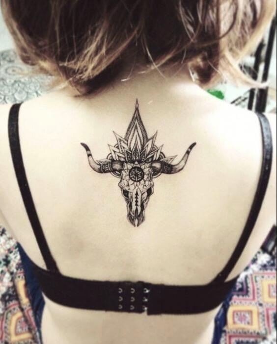 Back Tattoos Taurus Tattoos Bull Tattoos Tattoos For Women