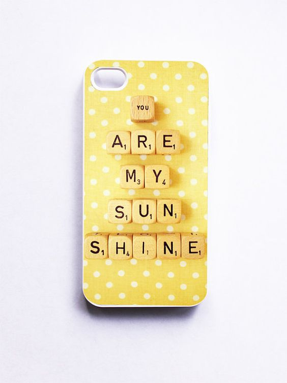 iPhone 4 Case You Are My Sunshine Retro Scrabble by happeemonkee, $35.00 THISISSOFREAKINGCUTEIMUSTHAVEIT