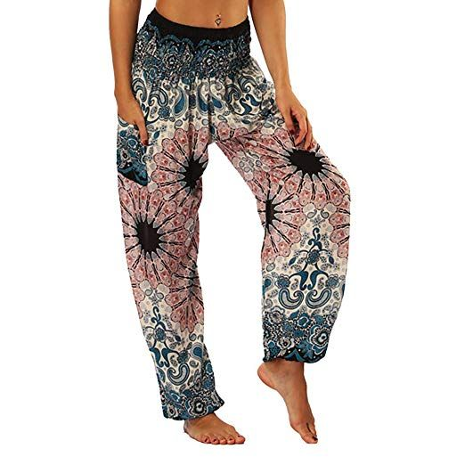 African Peacock Trouser Women Beach Trouser African High waist pants African Traditional and Tribal Pant and Capris Rayon Summer pants