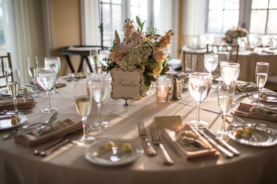Absolutely stunning table centerpieces. So elegant! Meggie & Kevin's Hayfields Country Club wedding by Charlotte Jarrett Events