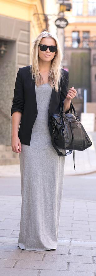 Grey Maxi Dress - P.S. I Love Fashion