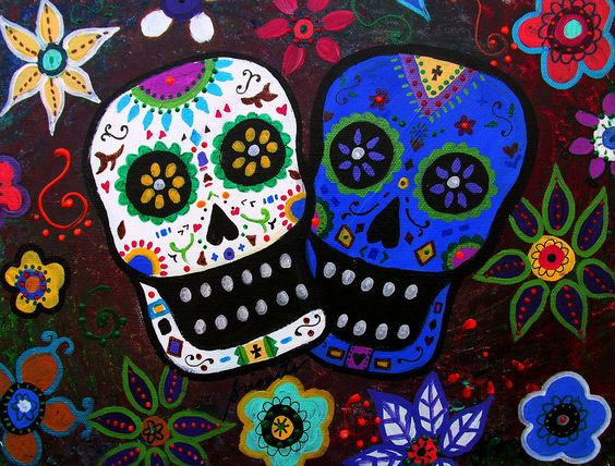 DIA De Los Muertos Art | Dia De Los Muertos Lovers Painting
