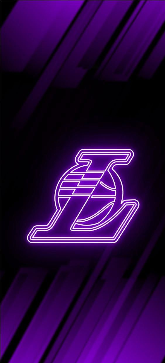 Los Angeles Lakers Neon Wallpaper In 2020 Nba Basketball Art Lakers Wallpaper Lakers Basketball
