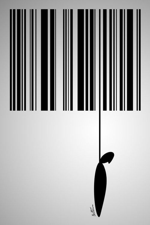 consume... - (barcode)(suicide)(hanging)(noose)(capitalism):