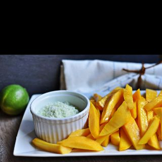 sugared lime zest http://www.turntablekitchen.com/2012/03/sliced-mango ...