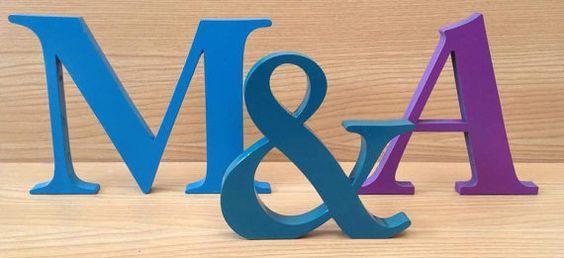 Letras de madera letras decorativas de la pared decoración madera vivero cartas juegos letra Letras Teen Letras bebé regalo de boda letras decorativas
