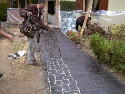 Béton imprimé – Beton decoratif exterieur | Stamped concrete ...
