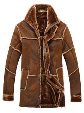 Ericdress Mid-Length Thicken with Velvet Warm Vogue Men's Winter Coat