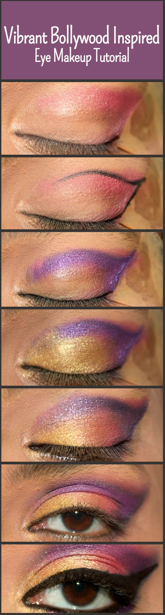 bollywood inspired eye makeup � step by step tutorial with