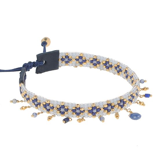 Dark Blue Mix Adjustable Charm Bracelet - Chan Luu