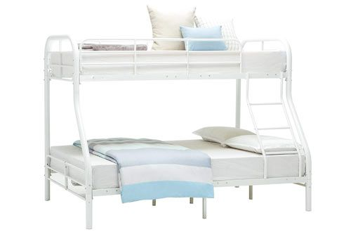 Girls,Kids,Teens for Boys Safety Guard Rail /& Two Build-in Ladders Space-Saving Design【Mint Green】 Mecor Twin Size Metal Loft Bed Frame