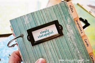A crafty notebook for organizing things and thoughts. #diy #crafts #paper #notebook #book #journal #projects