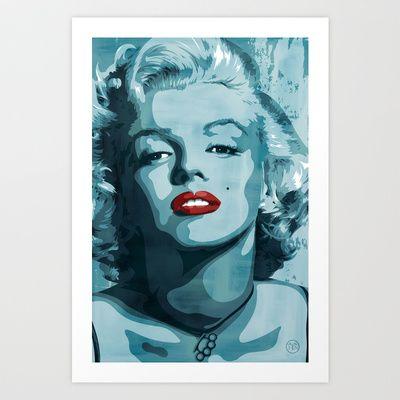 Brass+Knuckle+Marilyn+Monroe+Art+Print+by+Jeff+Nichol+Art+-+$22.88