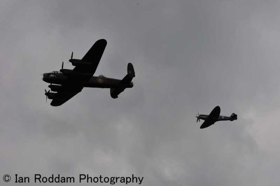 BBMF Spitfire PR XIX & Lancaster